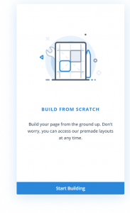 divi build from scratch